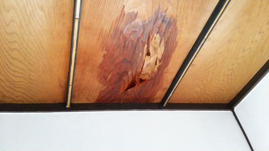 室内の天井雨漏れ